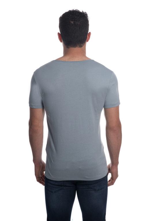 ALL SAINTS T-SHIRT בצבע תכלת אפור נורדי 3