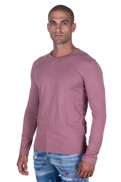 """חולצת בייסיק מבית """"מונסונגו"""" , שרוול ארוך בגזרה מדויקת פתח צוואר עגול 2"""