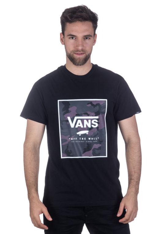 טי שירט VANS בגוון שחור הדפס קמופלאז' 1