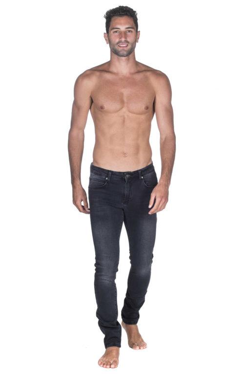 ג'ינס HUGO BOSS SLIM FIT  אפור במראה משופשף 01